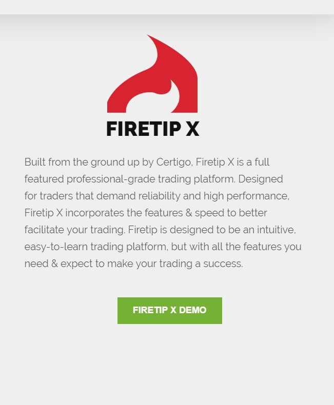 firetip trading platform demo mobile